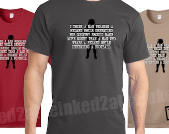 I think a man wearing a helmet while defending his country should make more money tshirt tee mens military tshirs