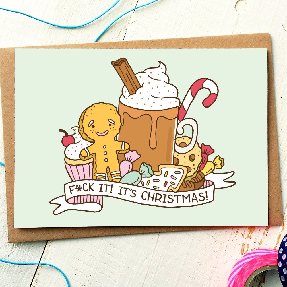 Funny Holiday Card Funny Christmas Card Funny Friend Card