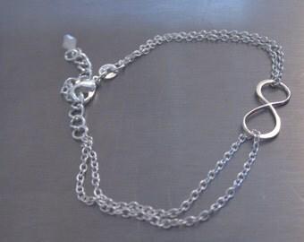 Infinity bracelet, sterling silver bracelet, sister gift, bridesmaid gift, silver jewellery uk