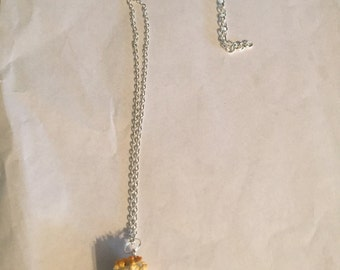 Cheddar Cheese Popcorn Necklace