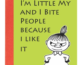 Greetings Card (Birthday) I'm Little My Moomin A6 any Occasion Blank