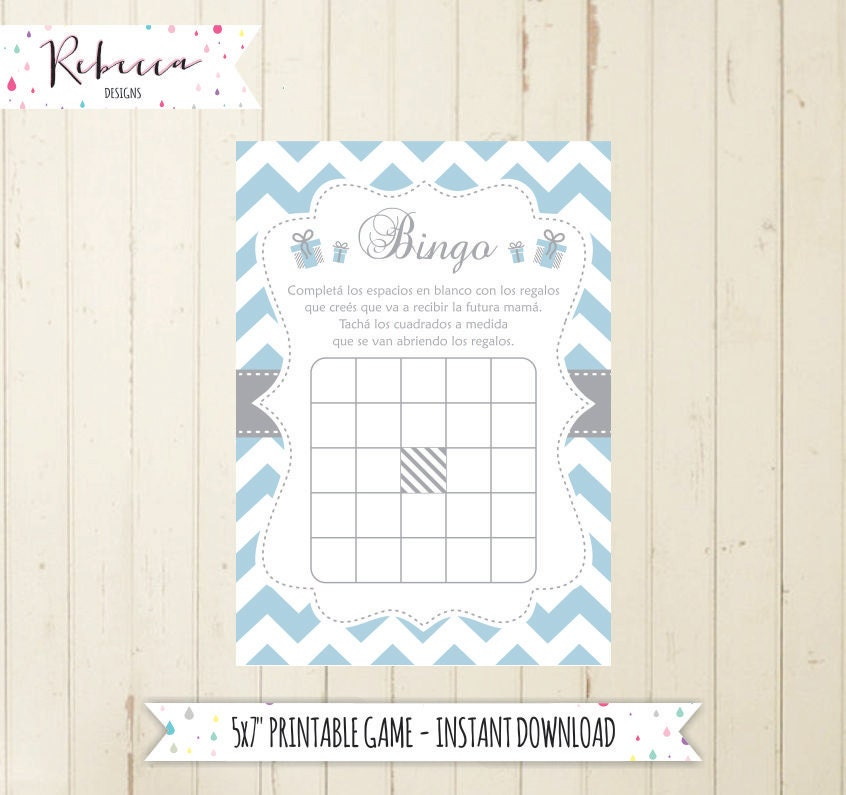 Baby Shower Games In Spanish: Baby Shower Bingo Game In Spanish Baby Shower In Spanish