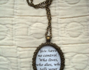 Hamilton Quote Necklace