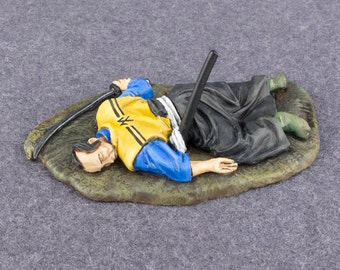 Toy Soldiers Killed Samurai 1/32 Scale Medieval Japan Hand Painted 54mm Pewter Metal Miniature Role Cast Action Figurine