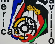 1974 Expo USA Afro-American Pavilon - Original Vintage Poster