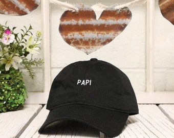 PAPI Dad Hat Baseball Hat Low Profile Papi Chulo Embroidered Champagne Papi Baseball Caps Dad Hats Black