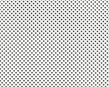 Tiny Black Hearts Fabric, Timeless Treasures Fun C1154 Black, Valentines Day Fabric,  Black and White Fabric, Cotton Heart Quilt Fabric