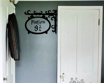 platform 9 3/4 - Wall Decal - Wall Vinyl - Wall Decor - Decal - Movie quote decal - Harry Potter decal