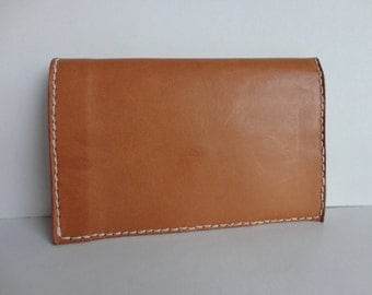 70s Vintage Wallet // Tan Leather