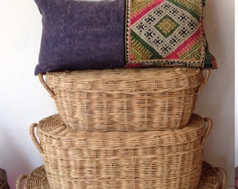"12"" x 24"" Vintage Hilltribe Handmade pillow hand stitched Ethnic Boho Cushion Cover"