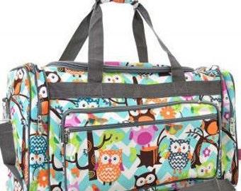 Personalized Duffle Bag, Duffle Bag, Large duffle bag, Monogrammed Duffle Bag, Duffle, Owl Duffle Bag, Weekender duffle bag, Luggage