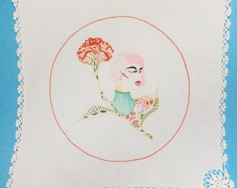 Nile embroidered illustration