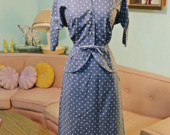 1950's Darling Clover Print Suit
