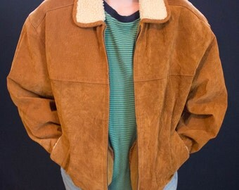 Outbrook 90s Vintage Leather Jacket