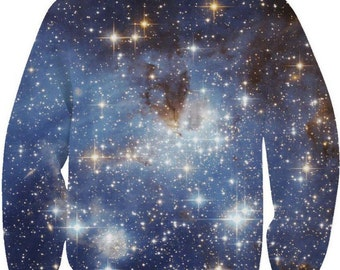 Blue Space galaxy pullover
