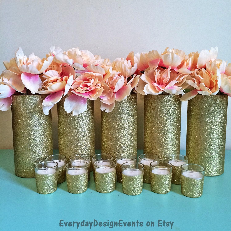 Gold wedding centerpiece vase centerpieces baby shower