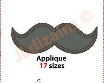 Mustache Applique Design. Mustache embroidery design. Embroidery design mustache. Embroidery mustache. Mustache Machine embroidery design