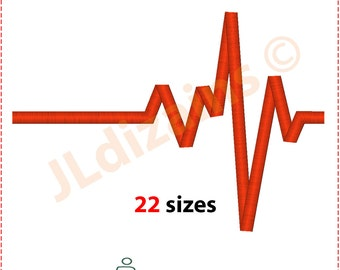 Hearbeat Embroidery design. Embroidery designs heartbeat. Heart beat embroidery. Embroidery design. Heartbeat. Machine embroidery design