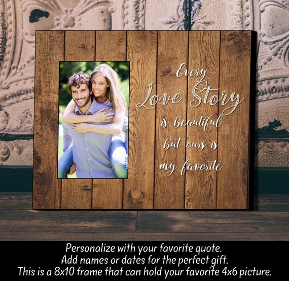 Unique Wedding Gifts Canada: Personalized Picture Frame Wedding Gift Anniversary Gift