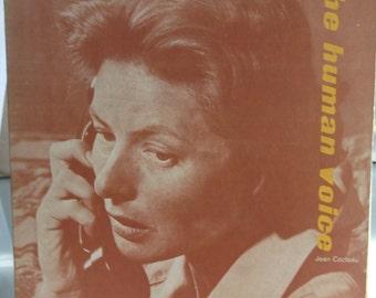Ingrid Bergman, The Human Voice, Jean Cocteau, Vintage Record Album, Vinyl LP, Spoken Word, One Act Drama, International Star Actress