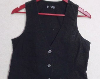 80s.Women Vest Extra Small Size Comfortable Waistcoat