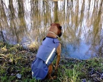Boxer Dog Raincoat - Rain Dog Jacket with underbelly protection - Custom Dog Rain Coat - Waterproof Dog Clothes - Dog Rain Coat