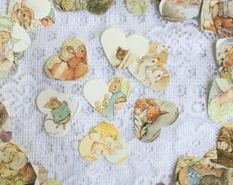 Beatrix Potter  Hearts - Beatrix Potter embellishments