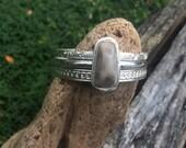Petoskey stone stacking bangle set, size medium