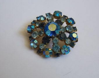 Vintage brooch crystal of the 1950s former jewel