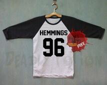 Hemmings 96 Shirt 5 Seconds of Summer Shirt Baseball Raglan Shirt Tee TShirt Unisex - Size S M L XL