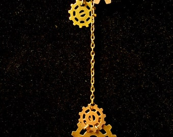 Steampunk Gears Lariat Necklace