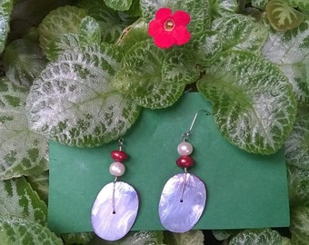 Queen of Hearts Pearl Earrings
