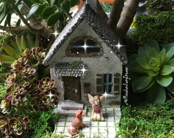 fairy garden house, fairy garden cottage, tiny fairy house, miniature house, gnome house, tiny fairy house, small house