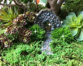 Fairy garden kit, gnome door, hobbit door, troll door, stone door, fairy garden idea,fairy garden house, fairy garden door, fairy garden kit