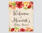 Fall Flower Baby Shower W...
