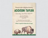 Bison Baby Shower Invitat...