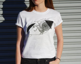 Squid vs Whale // Handmade Screen Printed Tee Shirt