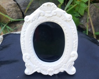 Oval scrying mirror, small black mirror, divination mirror, Witches mirror, divination tools, gypsy glass, pagan altar,