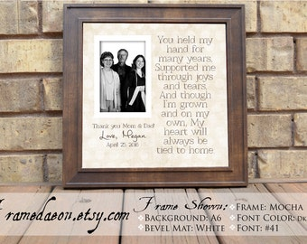graduation custom picture frame for parents graduation thank you parents thank you gift wooden frame square frame 15x15