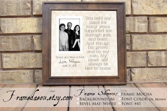 Graduation Custom Picture Frame for Parents Graduation