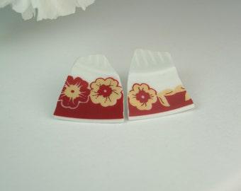Rossa porcelain earrings