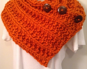 Pumpkin Orange Knit Neck Warmer or Cowl