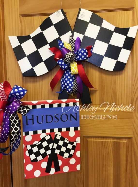 Like this item? & SHIPS NOW Nascar Race Flag Door Hanger Door Decoration pezcame.com