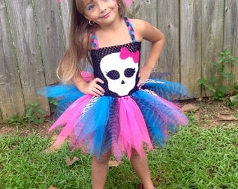 Halloween Pretty Skull tutu dress