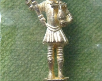 Vintage Tichborne Figural Spoon Solid Sterling Silver & Gilt Guy Of Warwick 1981 (4606)