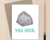You Rock - A2 Greeting Card