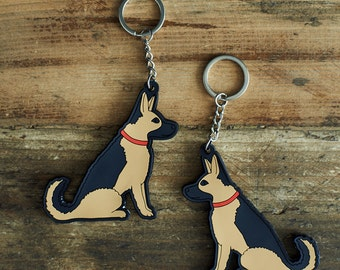 German Shepherd Keyring