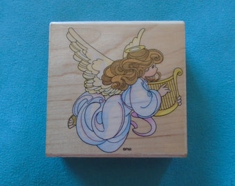 Stampendous - Precious Moments - Harp Angel - Rubber Stamp