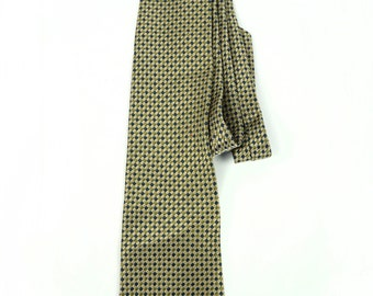 Geoffrey Beene Vintage Tie Italian Italy Genuine Golden Green Blue Combination