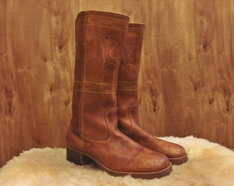 Prairie Rose vintage leather boots
